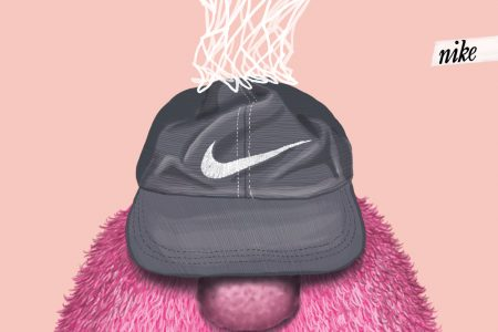 illustration, illustrations, illustrator, illustrators, texture, fur, nike, monster, monsters, nose, noses, basketball, net, nets, cap, caps, hat, hats