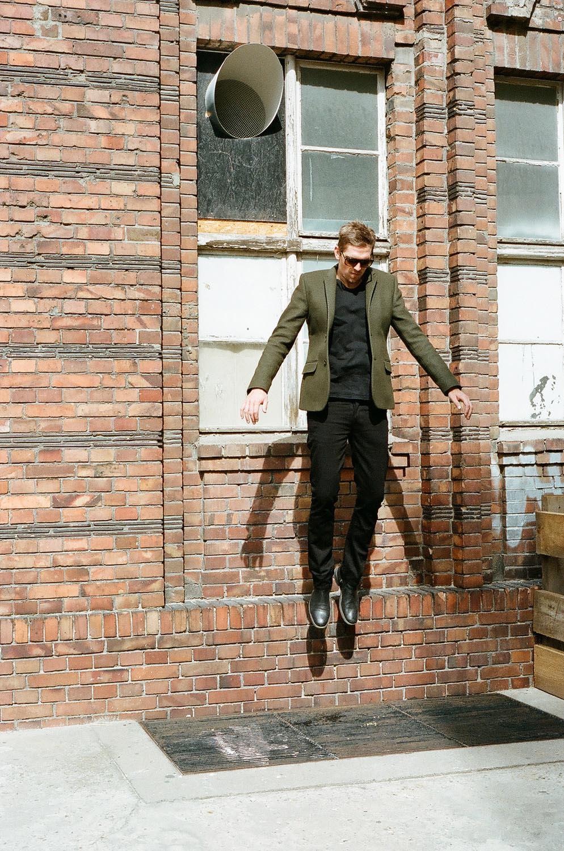 People man jumping