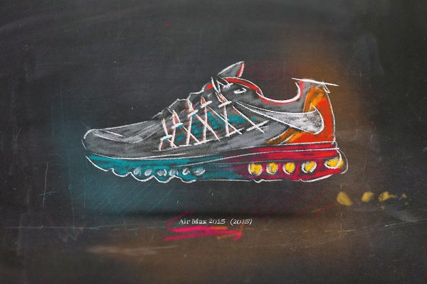 "Nike ""Air Max"" Sneaker shoe shoes chalk blackboard 2015 realistic"