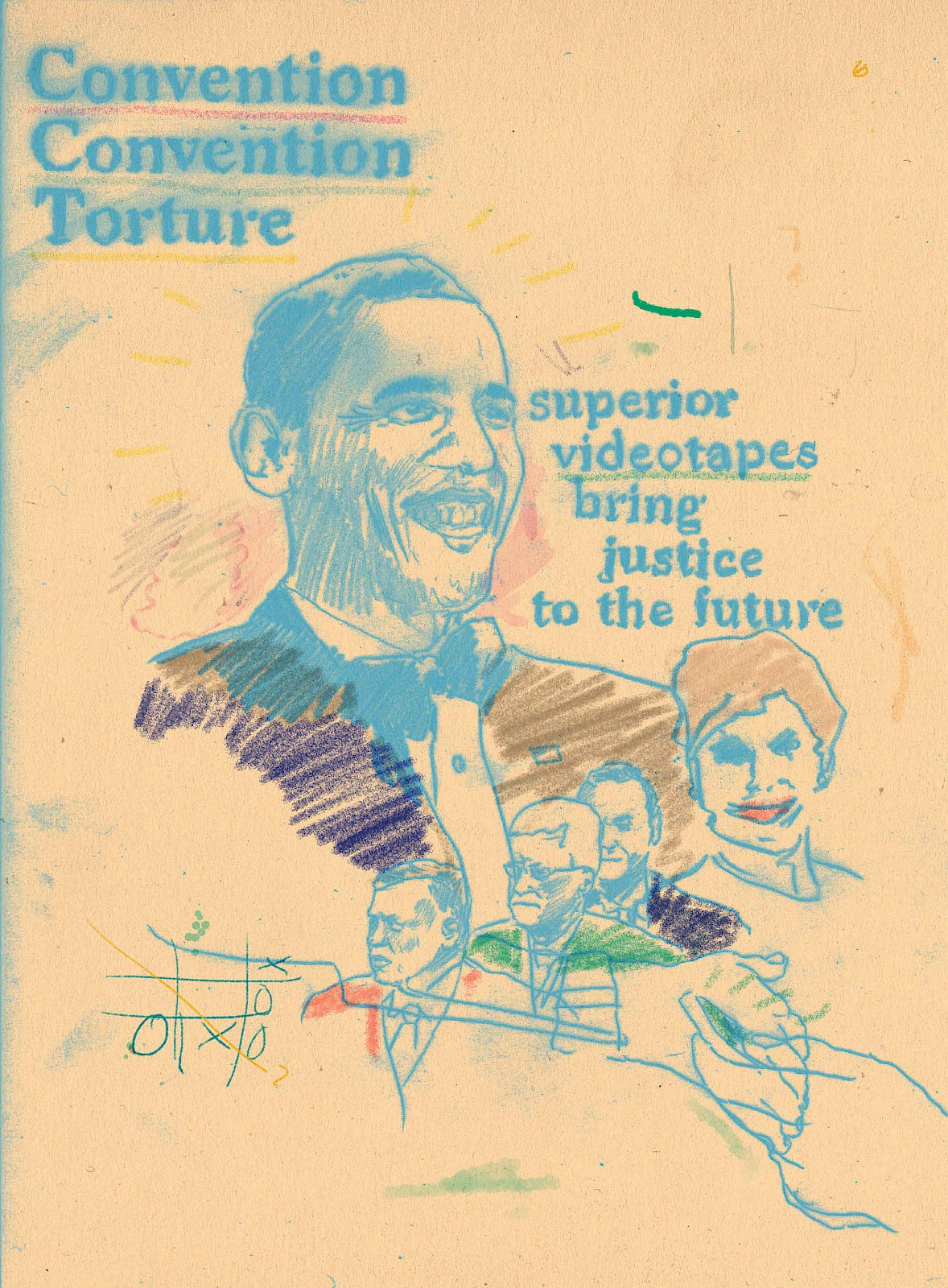 cconvention torture superior videotapes bring justice to the future Obama barrack colored pencil