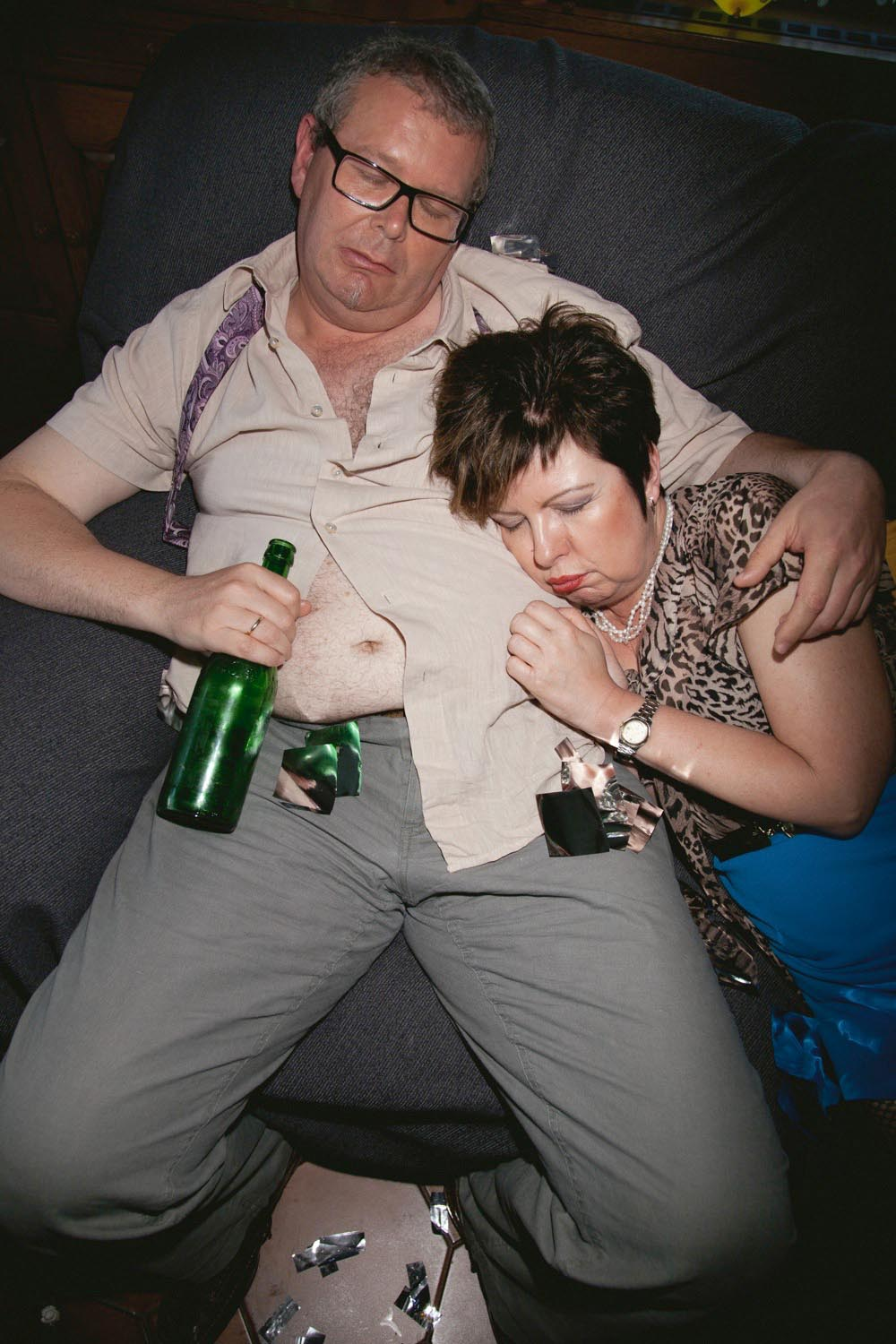 people man men woman women drunk wasted senior seniors couple sleep sleeping bottle beer belly