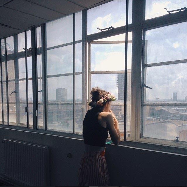 lifestyle people indoor girl window sun windows back