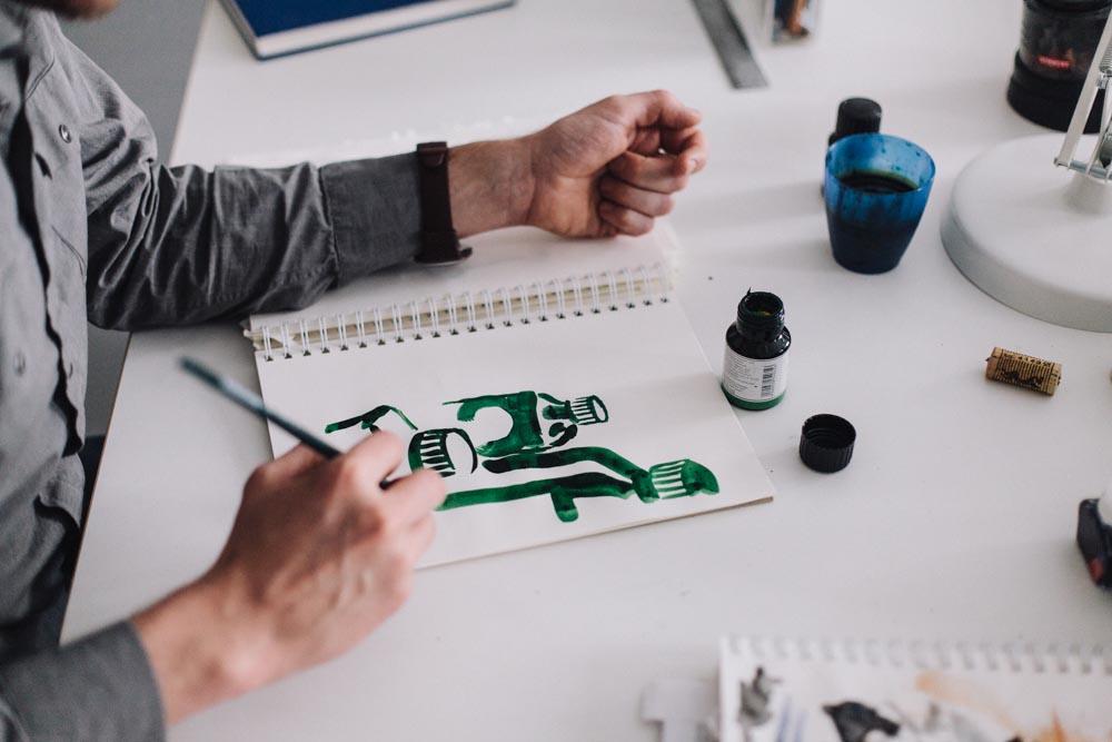 watercolor painting painter illustrator drawing artist
