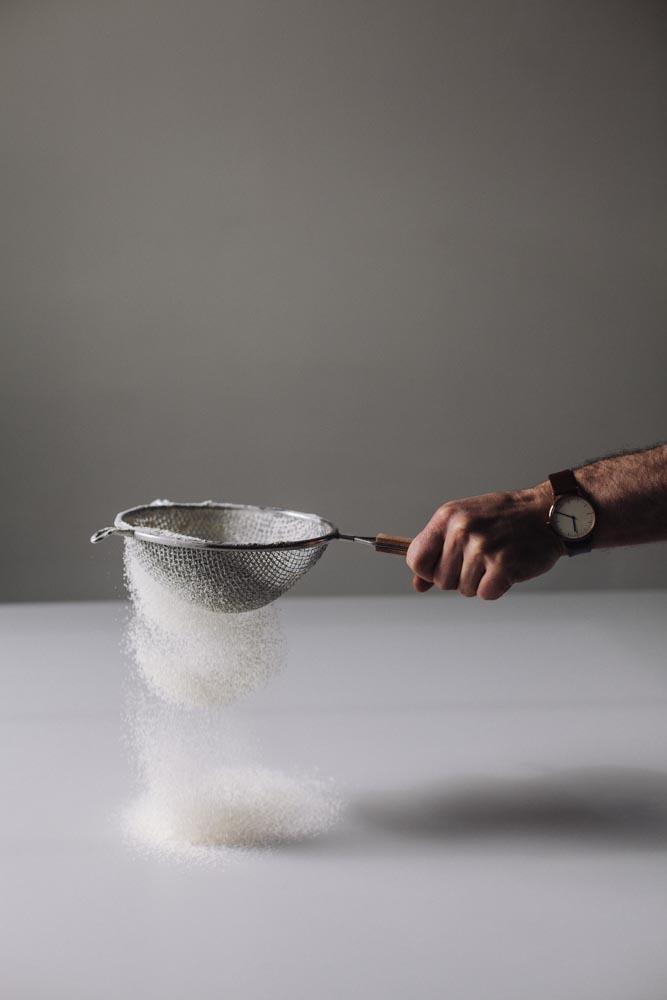 Lifestyle bread baker indoor cook cooking baking bake flour watch sieve clock hand