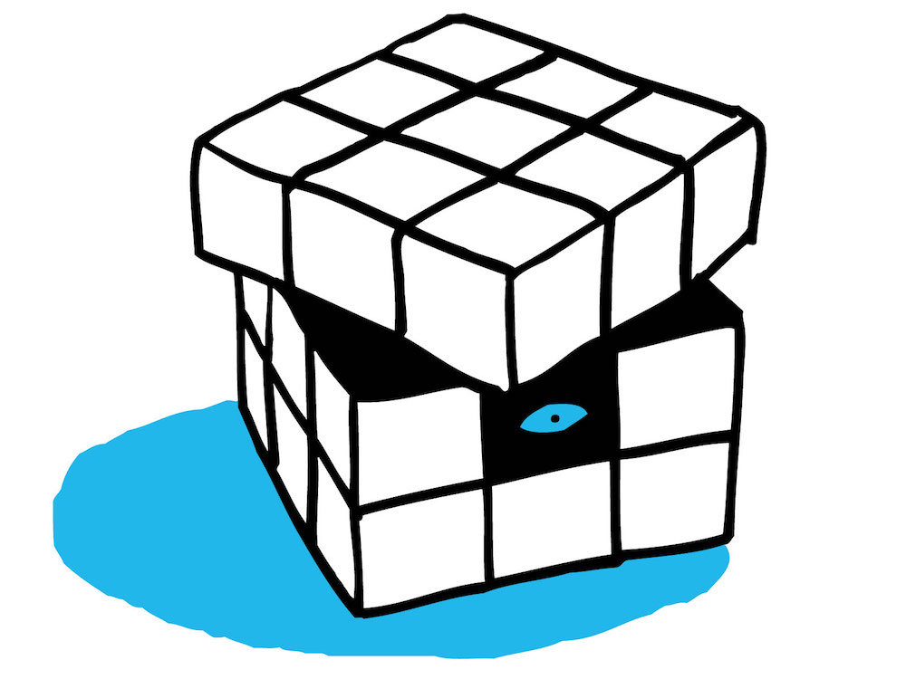 illustration, illustrations, illustrator, illustrators, cube, cubes, box, boxes, eye, eyes, puddle, puddles, look, see
