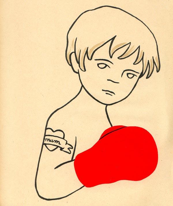 illustration illustrations illustrator illustrators tattoo boxer boxing gloves boy mom mum