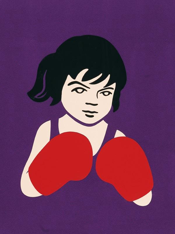 illustration illustrations illustrator illustrators girl girls boxer boxing gloves fight
