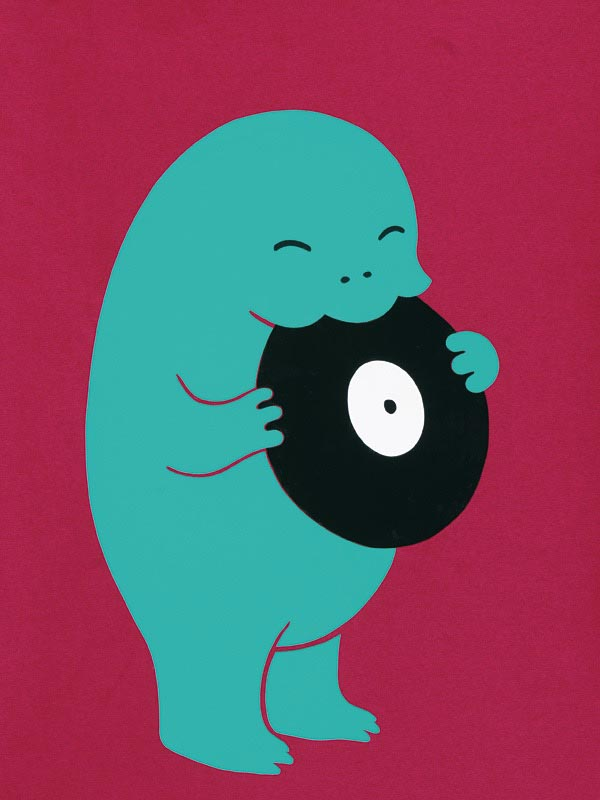 illustration illustrations illustrator illustrators monster monsters record records bold fuchsia turquoise vinyl happy cute