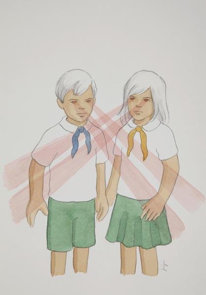 illustration illustrations illustrator illustrators girl girls boys boy children lasers scary