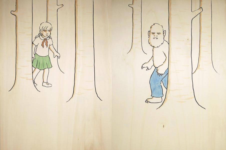 illustration illustrations illustrator illustrators monster monsters girl girls trees tree