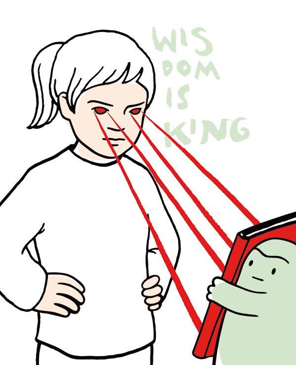 illustration illustrations illustrator illustrators wisdom is king girl girls monster monsters book books laser eyes