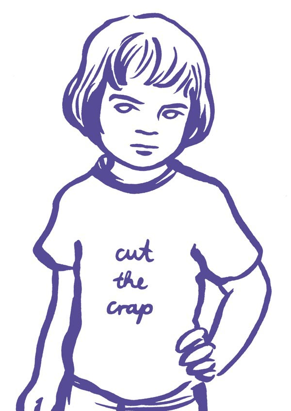 illustration illustrations illustrator illustrators cut the crap purple child boy boys girl girls youth message shirt sketch