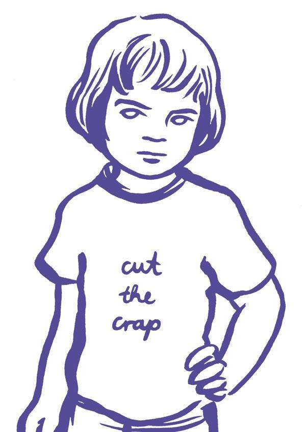 illustration illustrations illustrator illustrators cut the crap purple child boy boys girl girls youth message shirt sketch