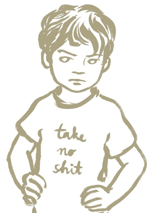 illustration illustrations illustrator illustrators take no shit gray grey boy boys child children youth young