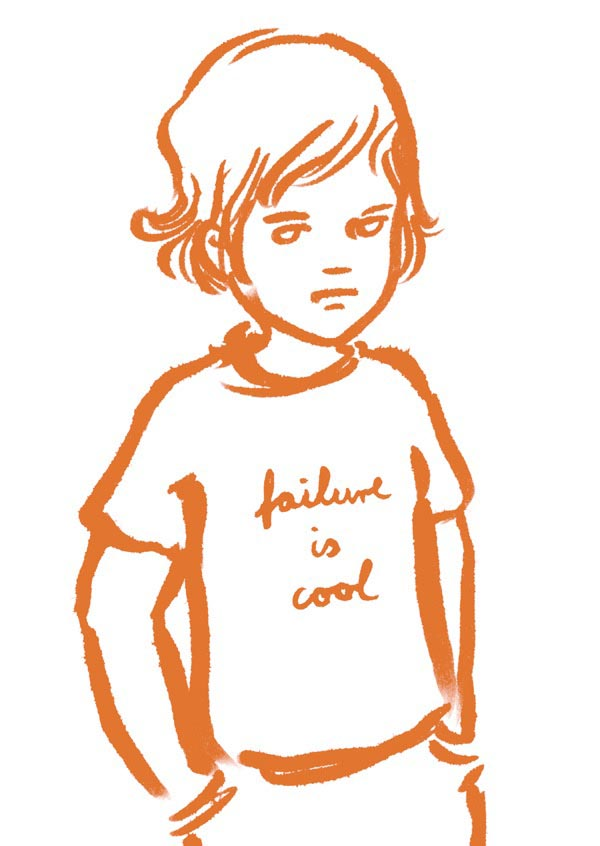 illustration illustrations illustrator illustrators failure is cool shirt orange boy boys