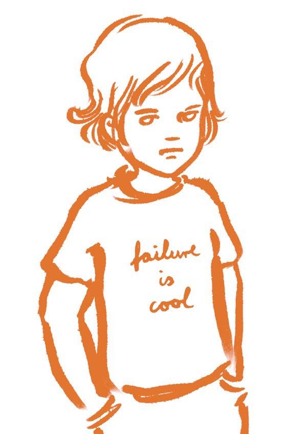 illustration illustrations illustrator illustrators failure is cool shirt orange boy boys