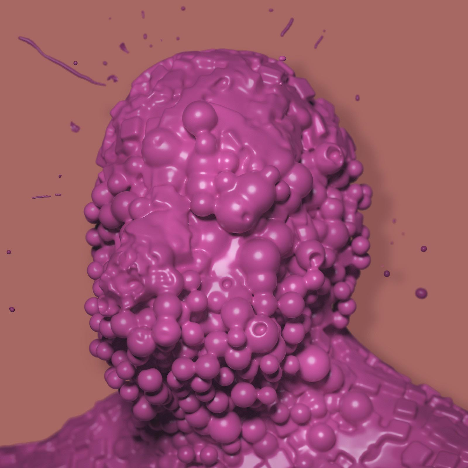 Botox Head Character Render Comic Blob Freeform Amorphous Bust Sculpture Displacement 3D man