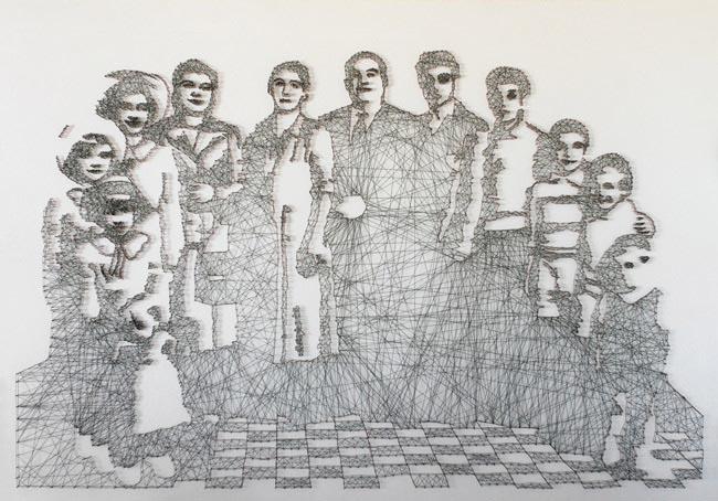 thread threadart handcraft lines line geometric