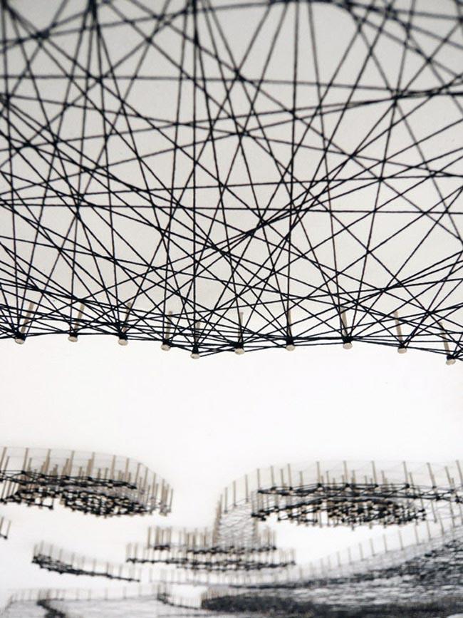 thread threadart handcraft lines line, geometric