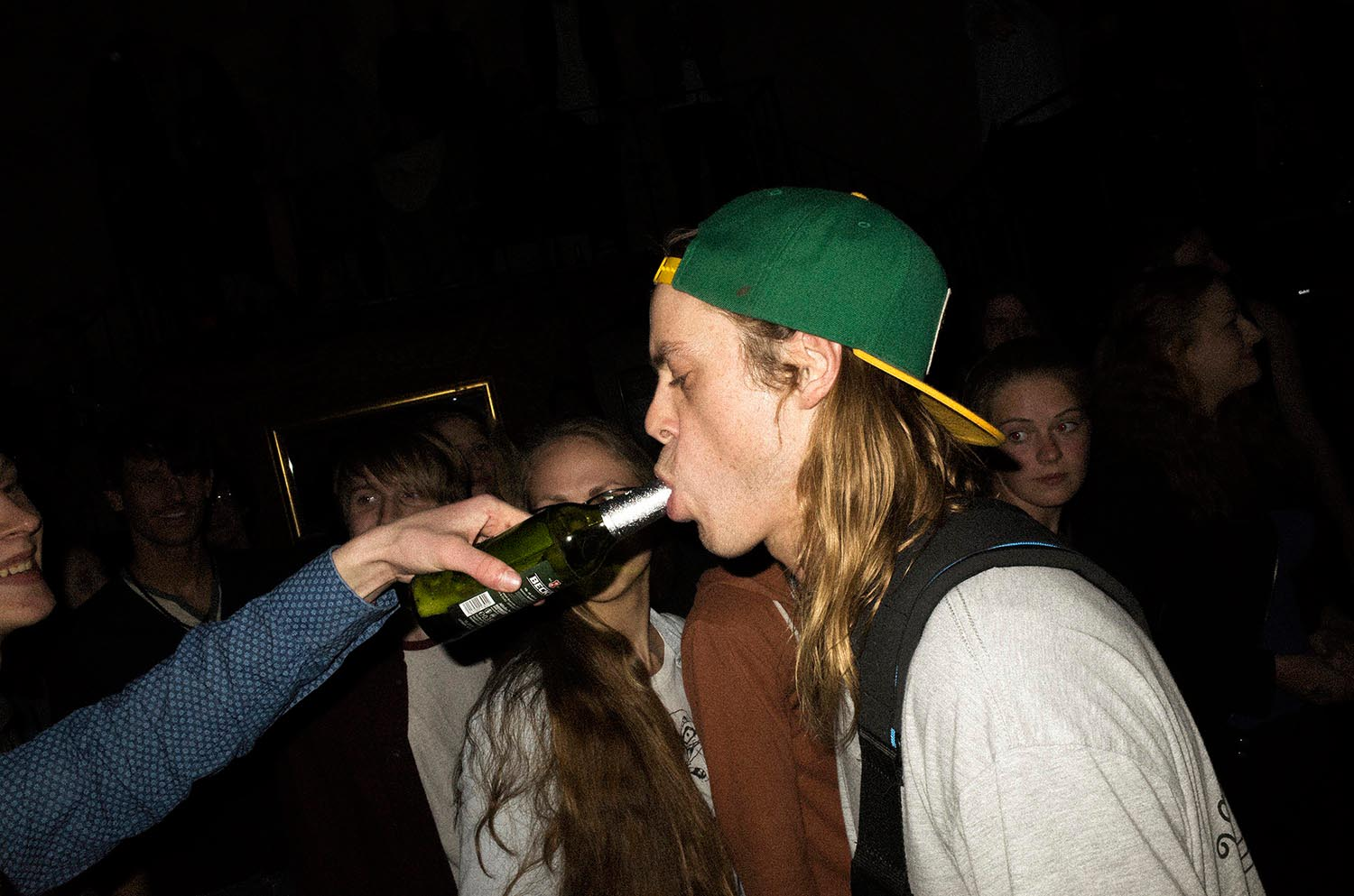 People concert singer musician man bottle beer longhair