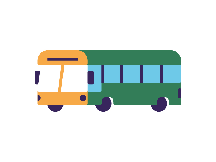 vector minimal transportation bus