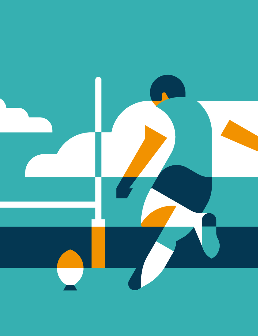 vector minimal sport player football rugby character people person