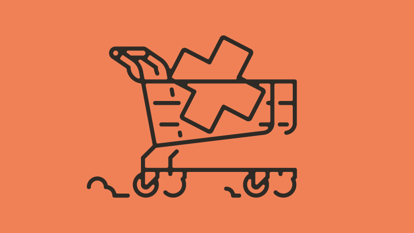 vector minimal lines outlines object objects plus trolley