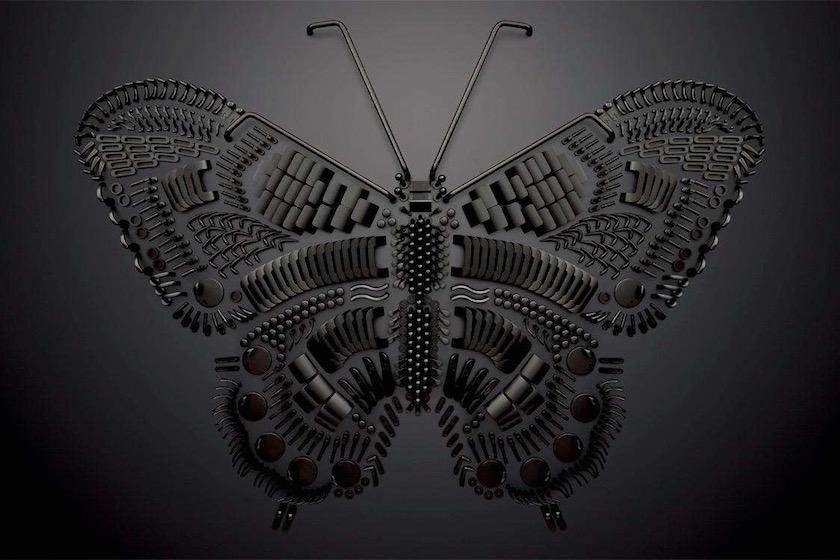 butterfly black dark