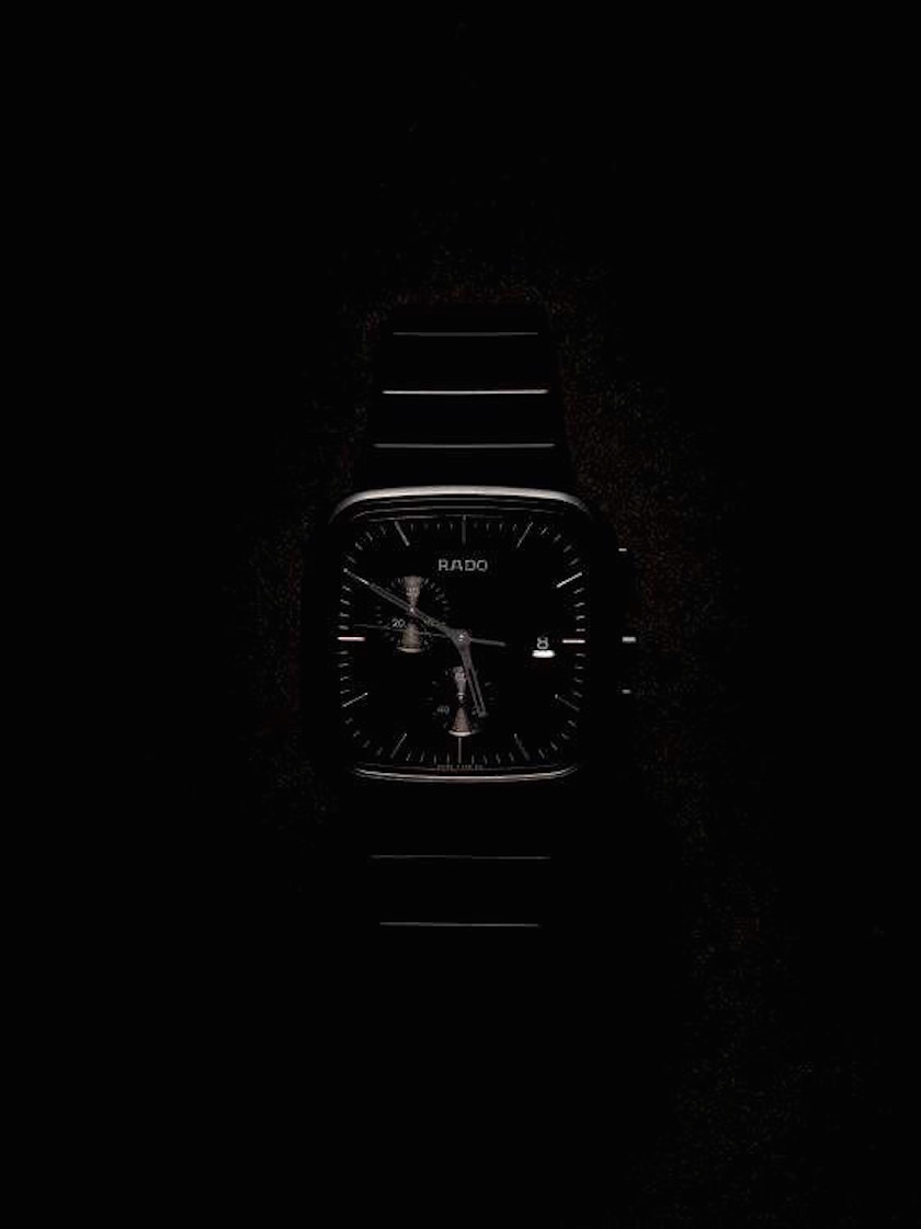 watch clock rado black dark
