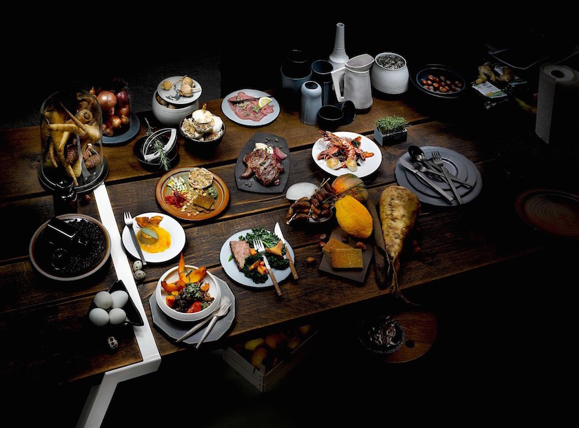 table stills food crockery dinnerware porcelain chinaware meat dinner vegetable vegetables