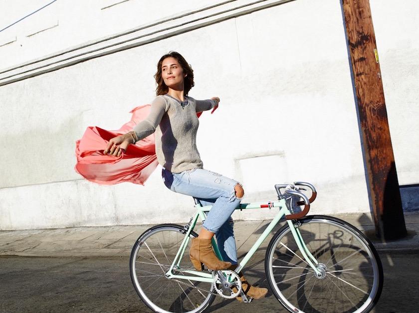 girl woman bike sunny sun warm cycle