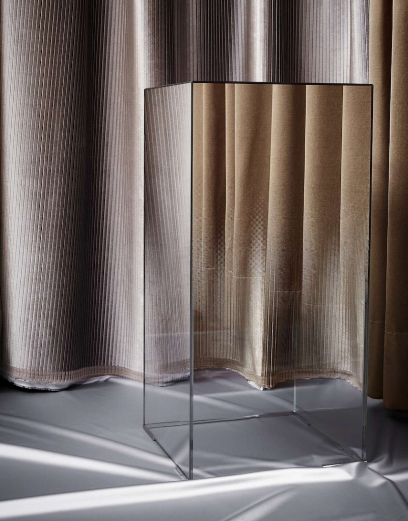 curtain cube glass reflection mirror
