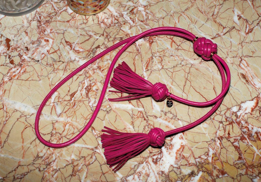 marble chain jewelry pink rose