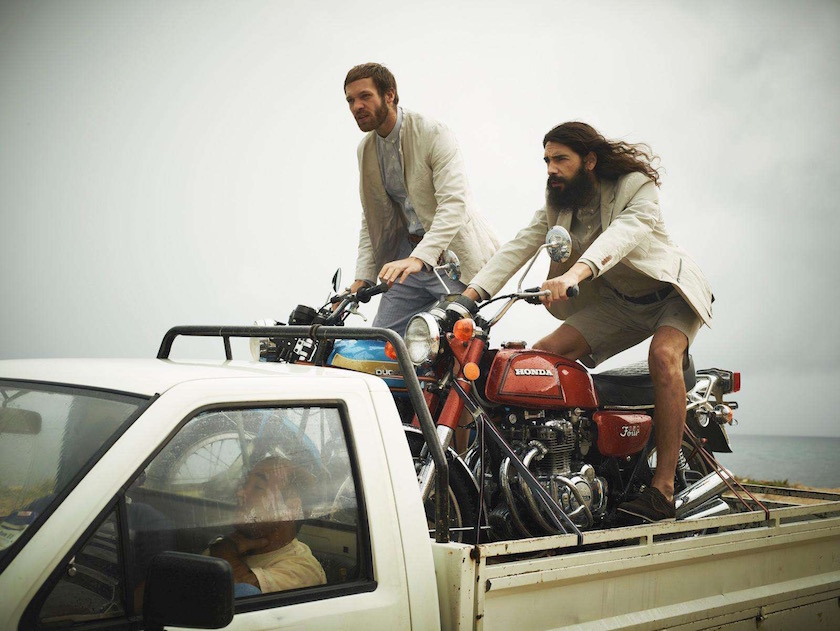 man men motorcycle pickup beard long hair