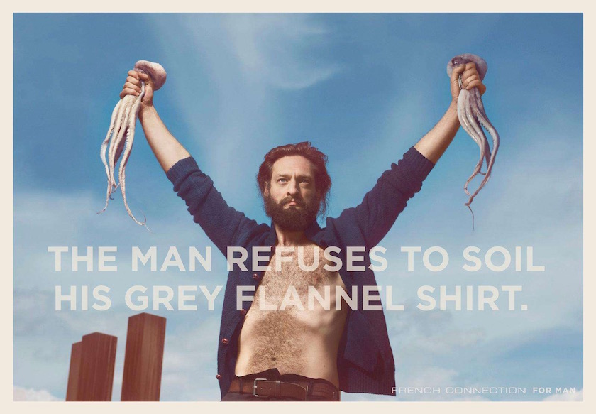 man beard topless octopus fisher fisherman long hair hairy