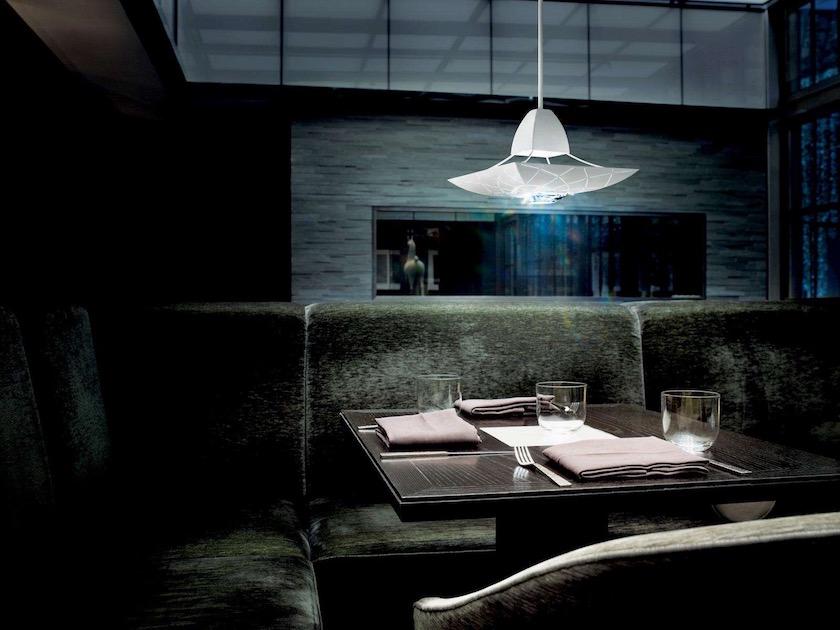 restaurant table chair seat lamp shine shiny