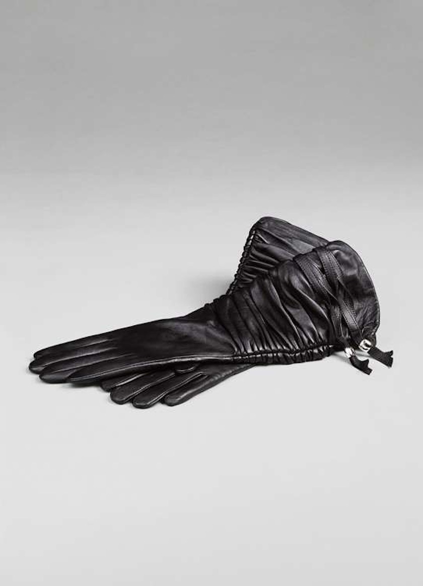 gloves leather black object
