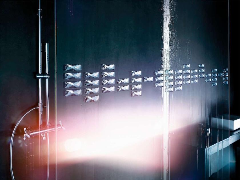 shower bath wet glass shiny glossy shine bright light dark