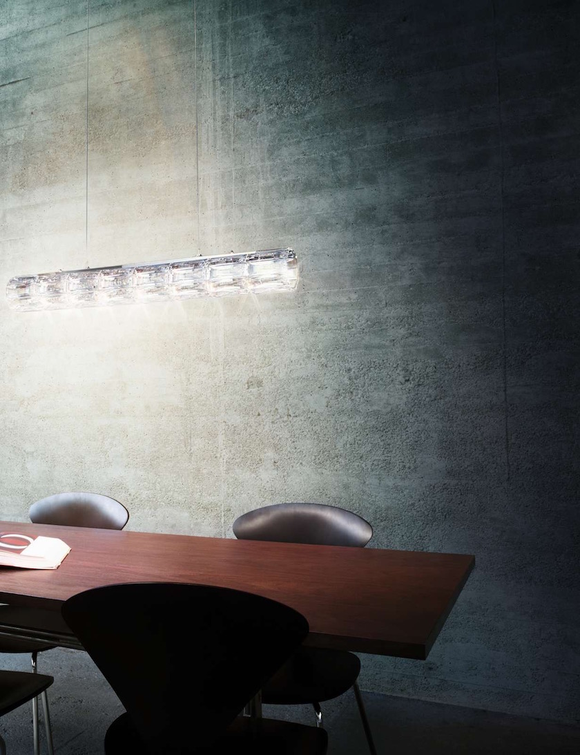 table light wall concrete chair wood wooden