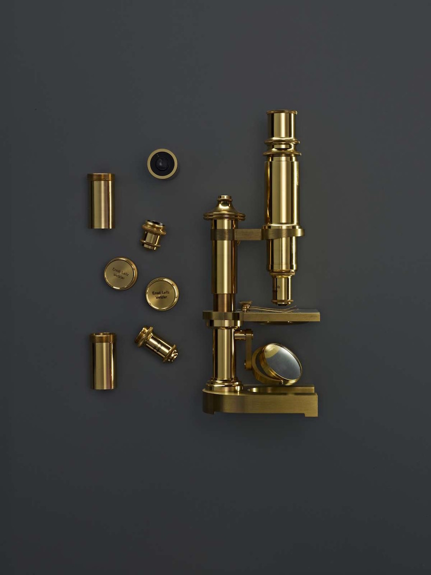 gold golden microscope vintage object objects