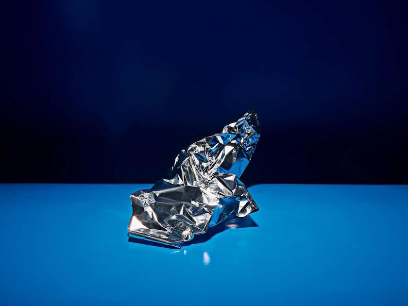 blue foil aluminium shine shiny glossy