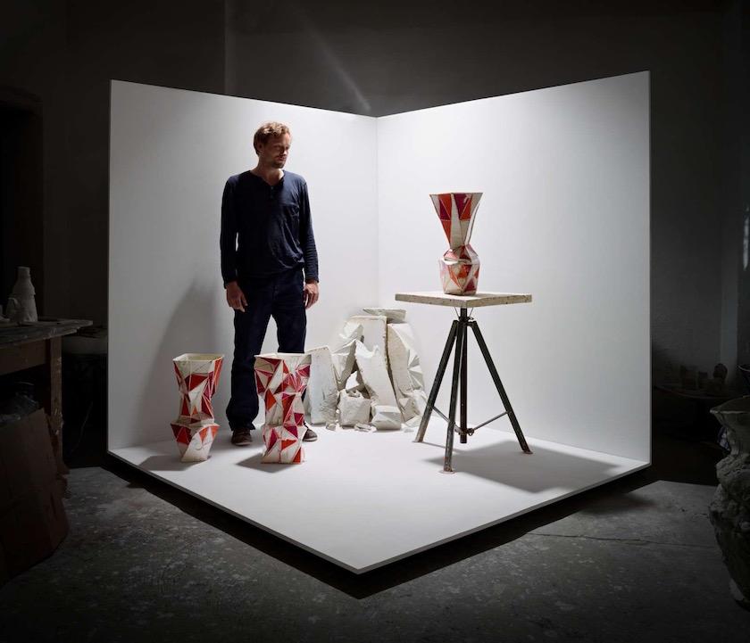 man space vase