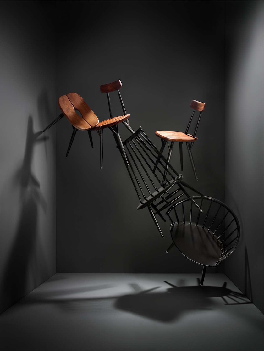 chair chairs wood wooden black construction constructed space room dark grey