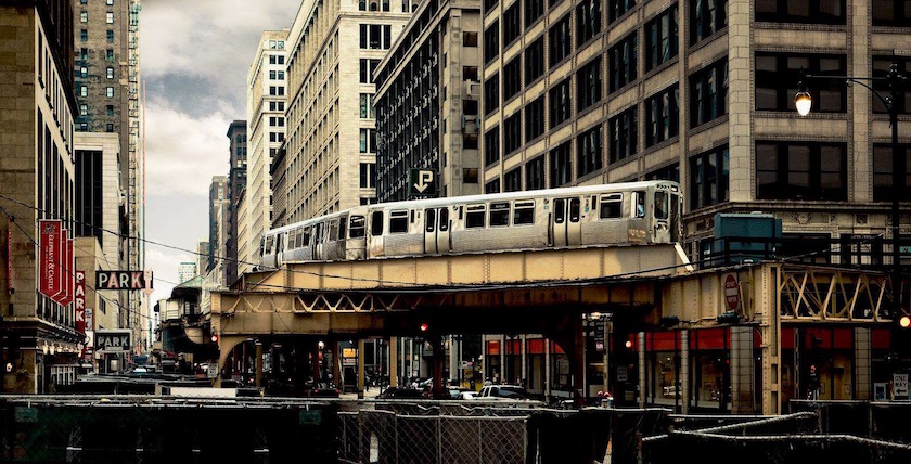 city building buildings train metro usa