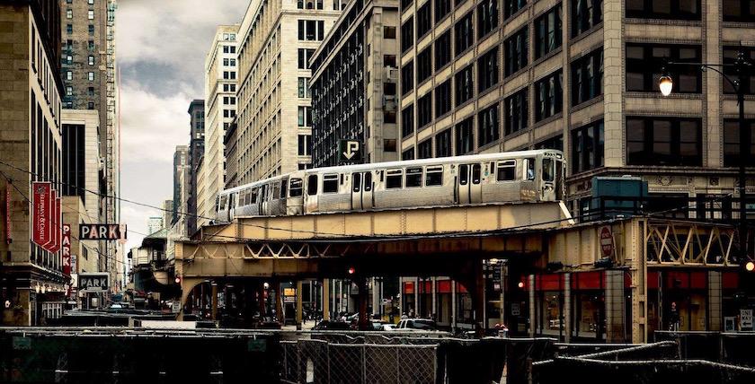 city building buildings train metro usa