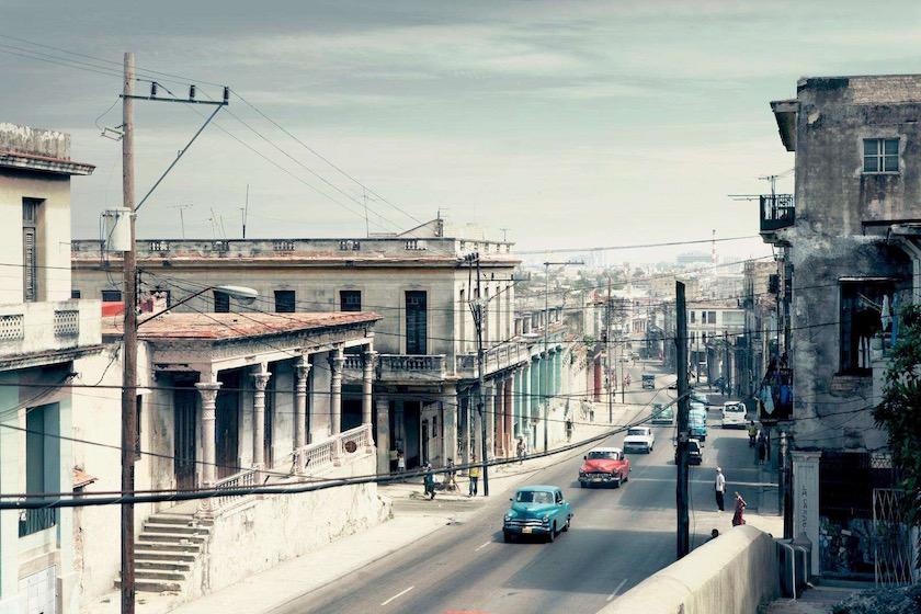 cuba havana city town street car cars vintage
