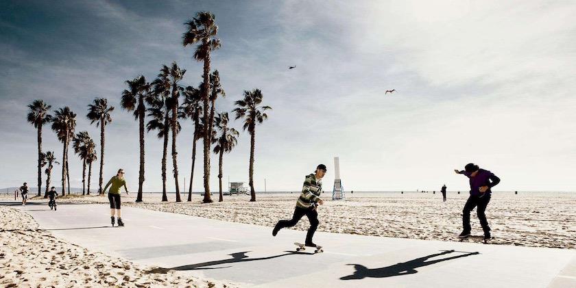 beach sun sunny bright palmy skate skater skating