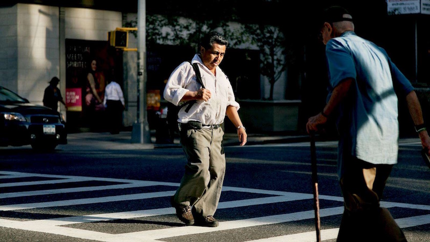 photograph photographer photo photographers photography man men mature old senior seniors street urban walk walking corsswalk cane