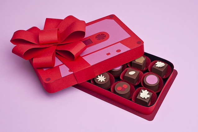tactile art conceptual handcrafted tape chocolate food gift