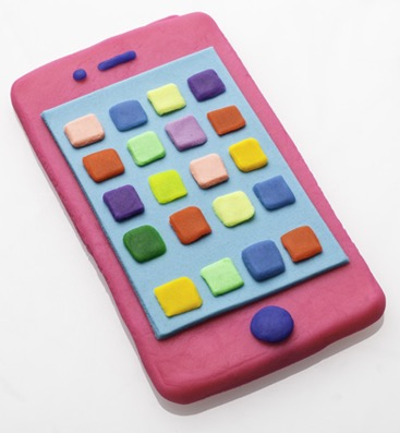 tactile art modeling clay handcrafted playdough phone smartphone object product objects products technology